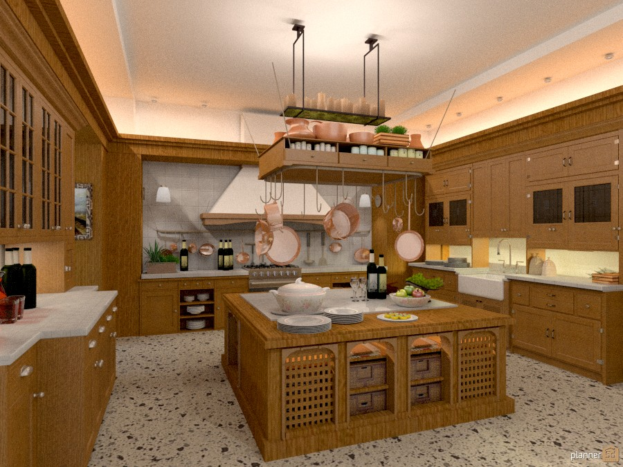 Cucina rustica apartment ideas planner 5d for Arredamento agriturismo