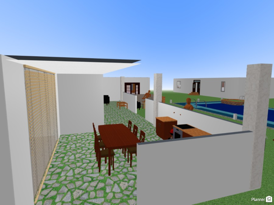 First Project Small Mansion Free Online Design 3d House Floor Plans By Planner 5d