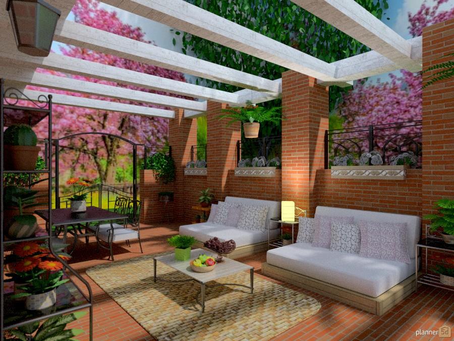 Foto casa veranda arredamento decorazioni fai da te for Idee patio per case in stile ranch