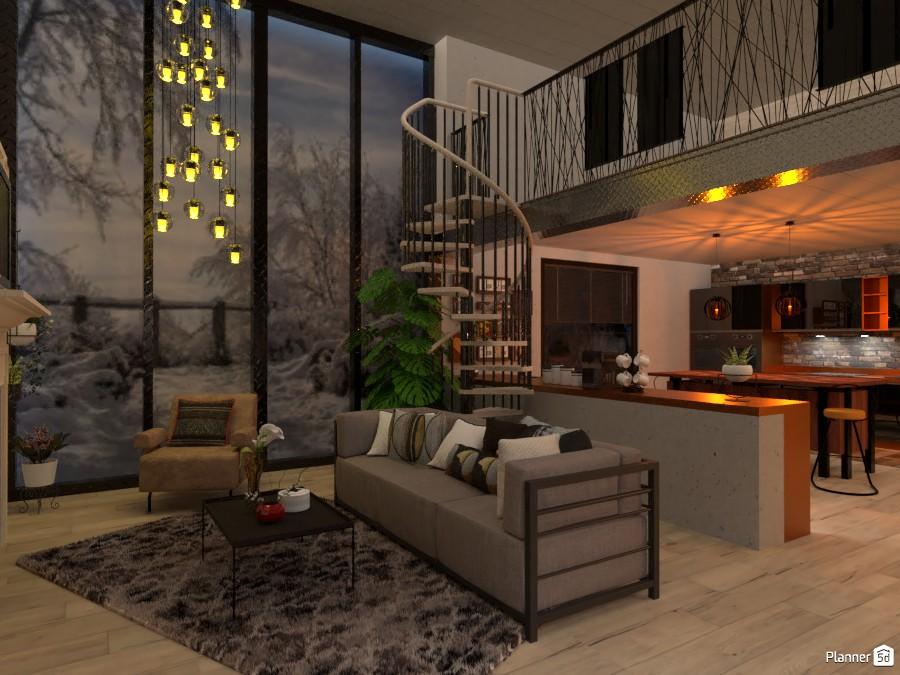 Neo-Industrial loft: Living 3836056 by Micaela Maccaferri image