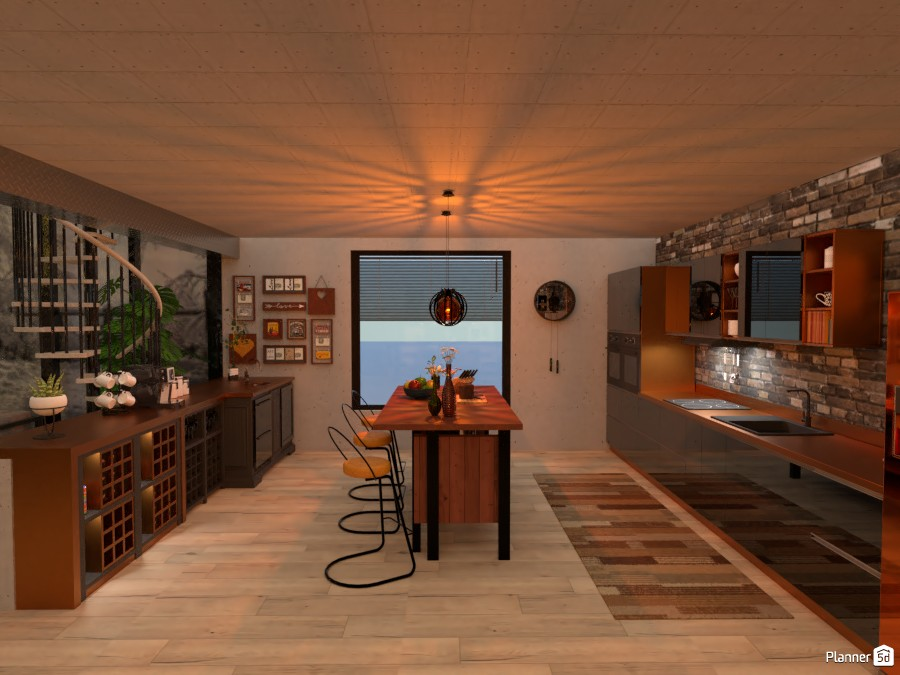 Neo-Industrial loft: Kitchen #1 3836230 by Micaela Maccaferri image