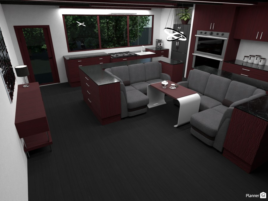 Dark Red Kitchen 3058228 by ESK image