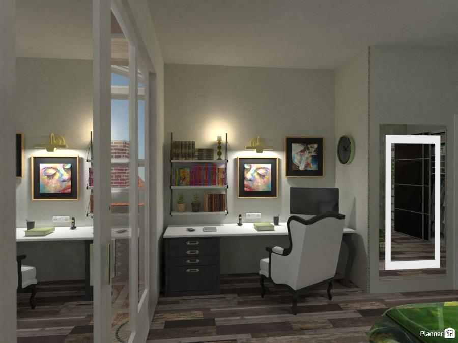 Green Point Studio Side - Idee per appartamenti - Planner 5D