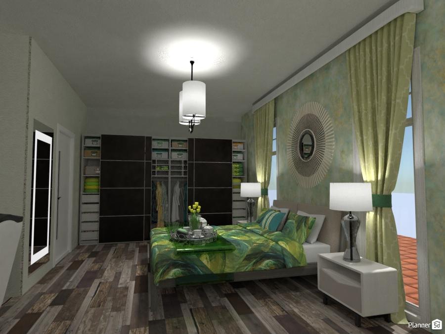 ideas apartment bedroom lighting storage ideas Green
