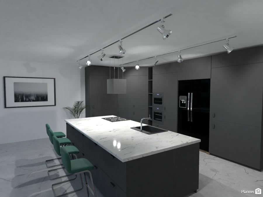 black kitchen 3706266 by rilly image