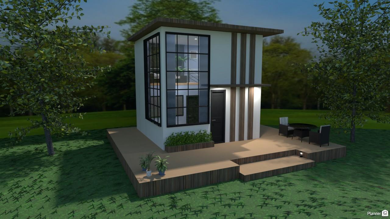 Casa en 5x5 metros (exterior.) 4246567 by Hall Pat image