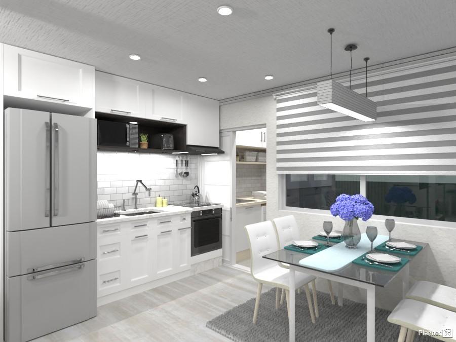 Sala de jantar e cozinha neutra 3492865 by Nanda image
