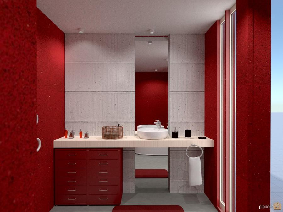 Ba o red bathroom ideas planner 5d for Bathroom design 5d