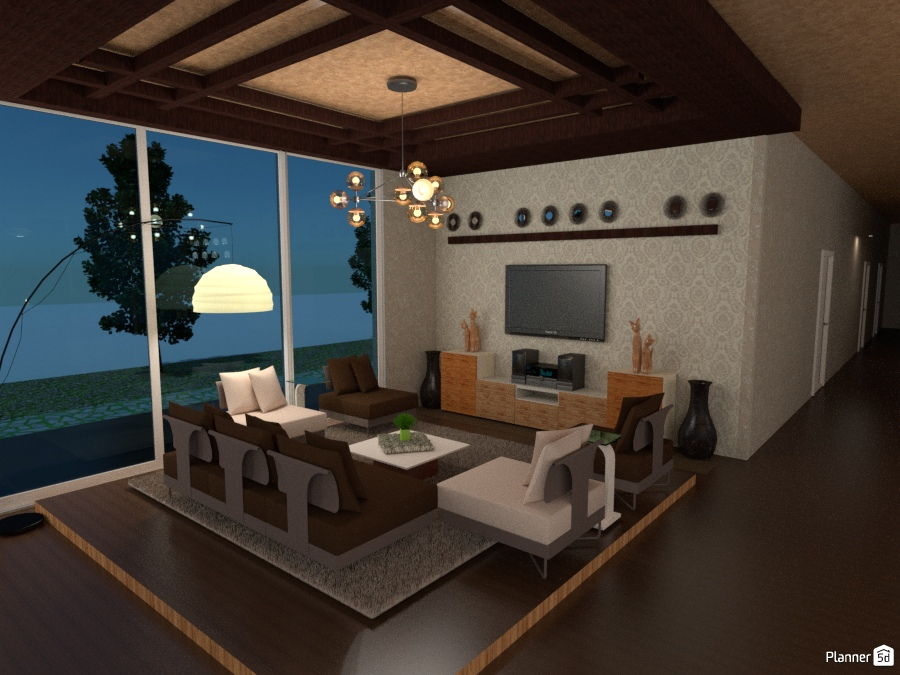 Glass House Living Room Free Online Design 3d House Ideas Stella Atienza By Planner 5d