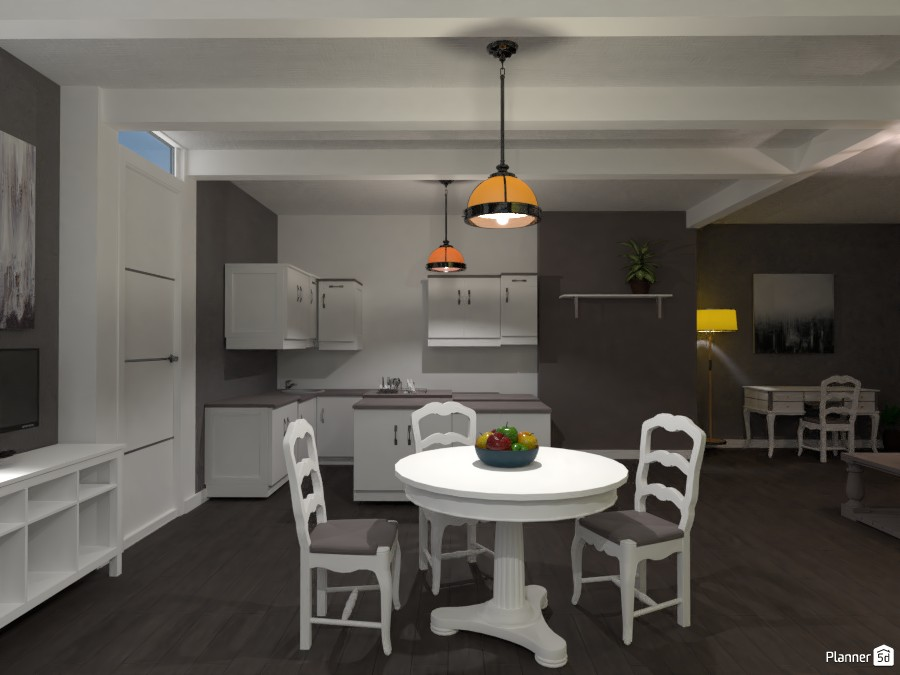 ISLAND KITCHEN WITH LIVING ROOM WITH DINING TABLE! 82640 by Huzaifah Shaikh image