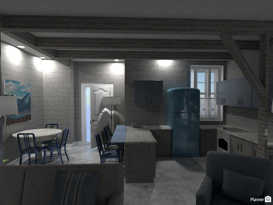 Contest Design Render Kitchen And Dining Room Free Online Design 3d House Ideas Designer Doggy By Planner 5d