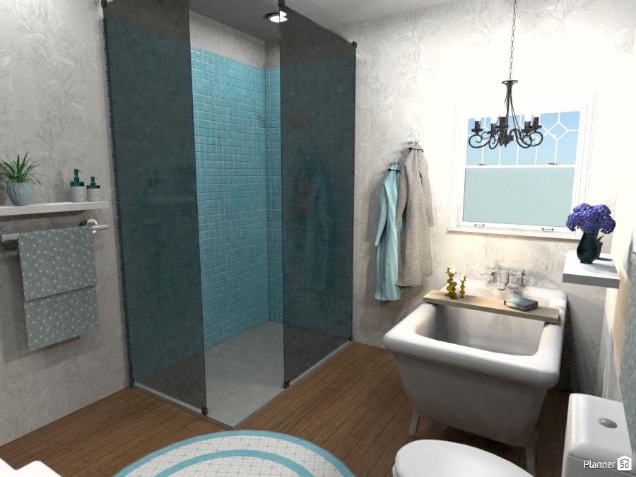 Jack and Jill Bathroom - House ideas - Planner 5D