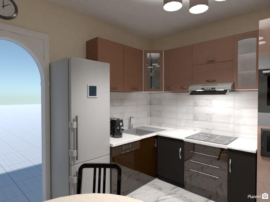 Kitchen in brown 3466262 by Roman Rabinovich image
