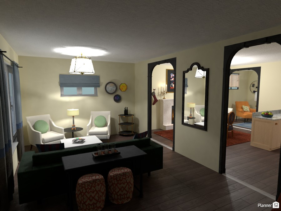 Transitional living room 3056841 by Nicki image