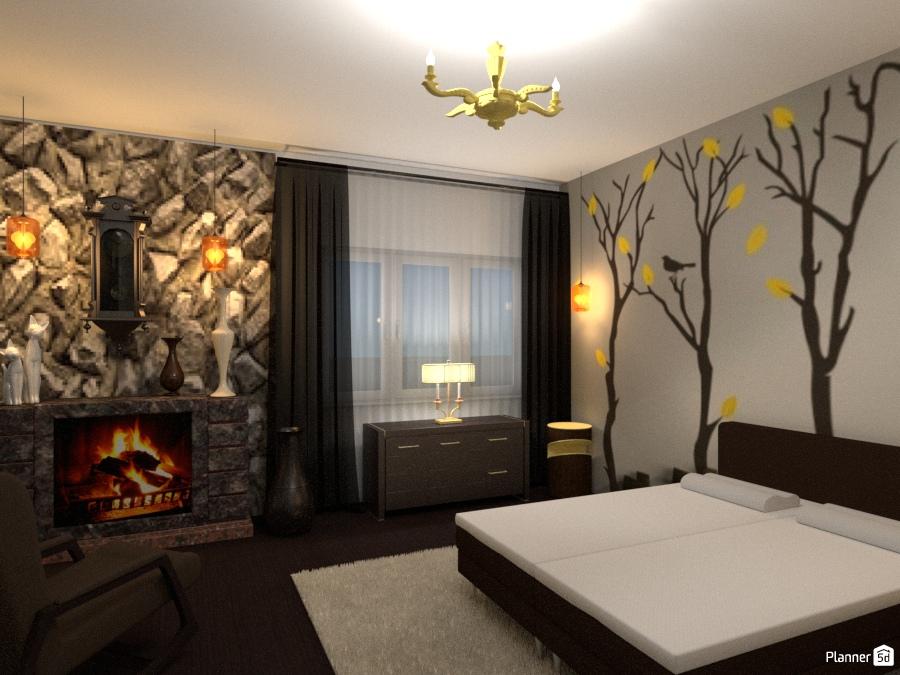 Спальня с камином 1786864 by Татьяна image