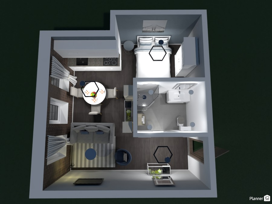 LIVING ROOM WITH A KITCHEN WITH A DINING ROOM WITH A BATHROOM WITH A BEDROOM! 82332 by Huzaifah shaikh( The ninja) image