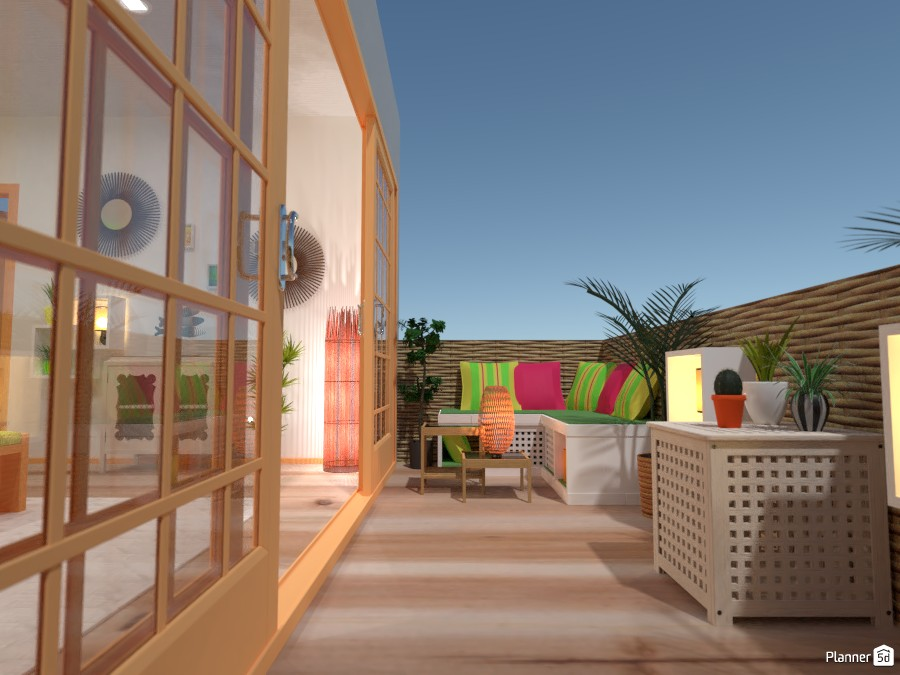 Tropical bedroom with a balcony 3787889 by Gabes image