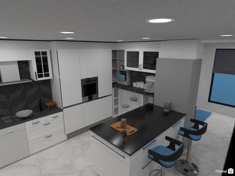 Kitchen and living - Living room ideas - Planner 5D