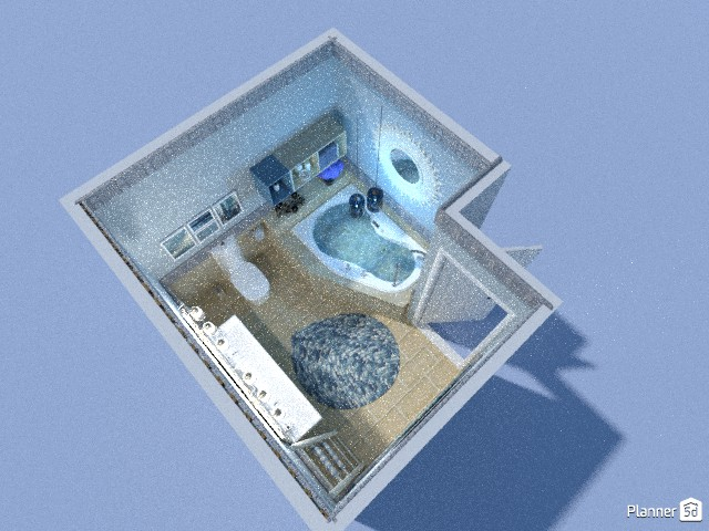 Blue bathroom 80665 by Micaela Maccaferri image