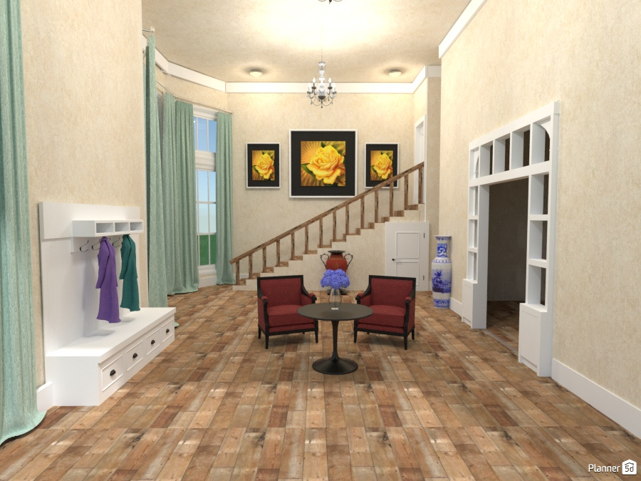 townhouse entryway - house ideas - planner 5d