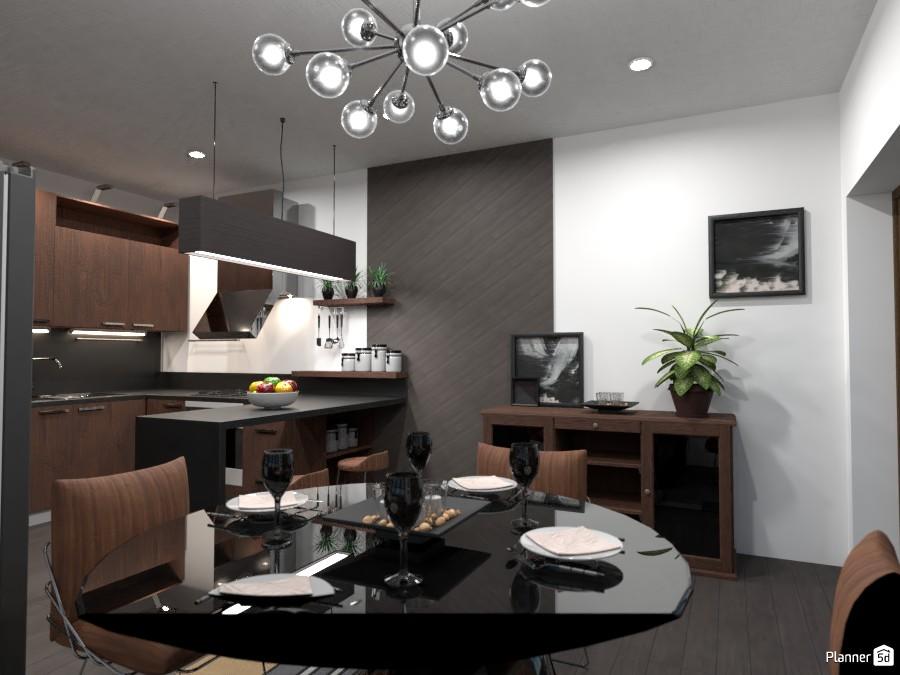 All black!: Design battle contest .... dining room 4363454 by Gabes image