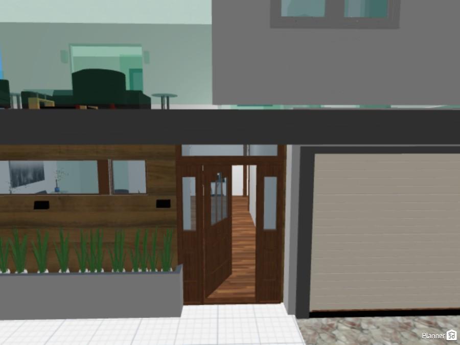 Casa pequeña de dos pisos, dos habitaciones, un baño, pared de cristal del garage a la cocina y piscina con area de barbacoas. 83811 by Carlos Manuel Perdomo Peña image
