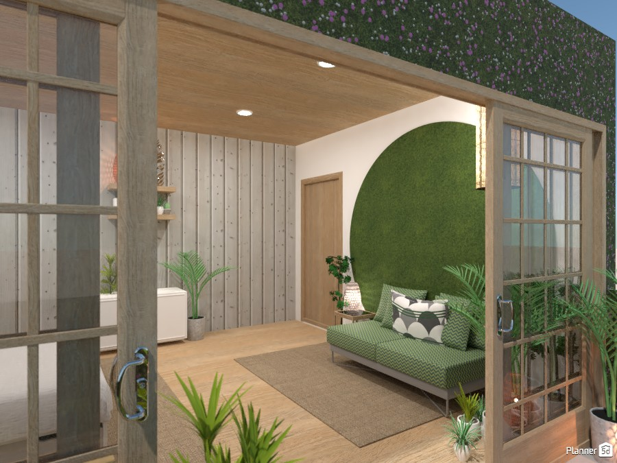 Tropical bedroom with a balcony 3780010 by Ana G image