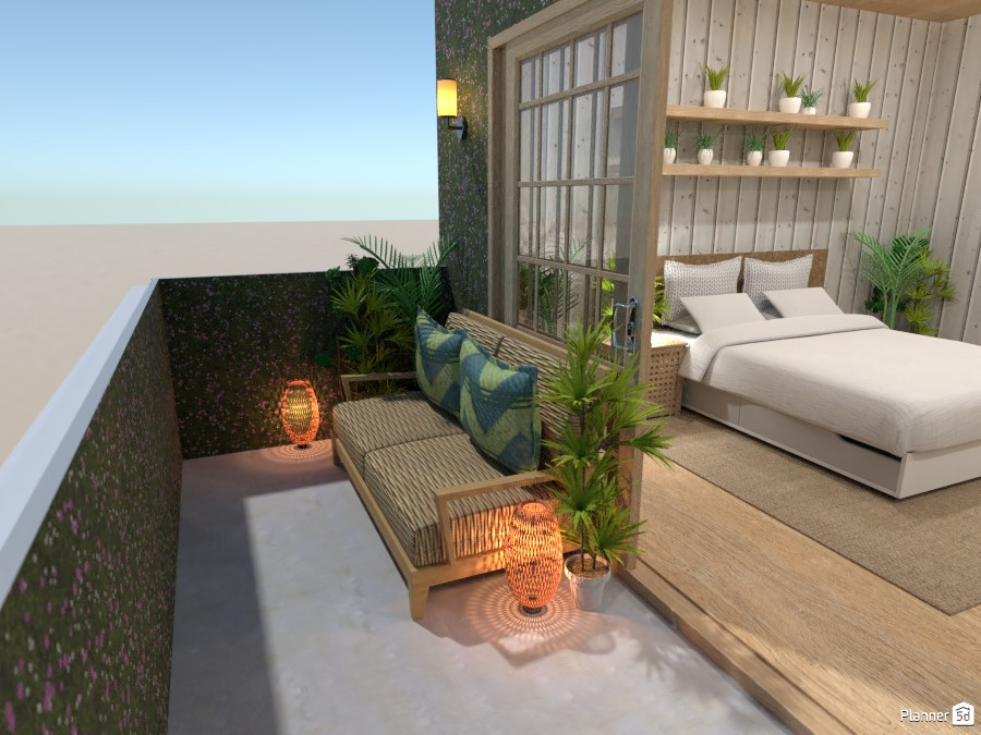Tropical bedroom with a balcony 3780012 by Ana G image