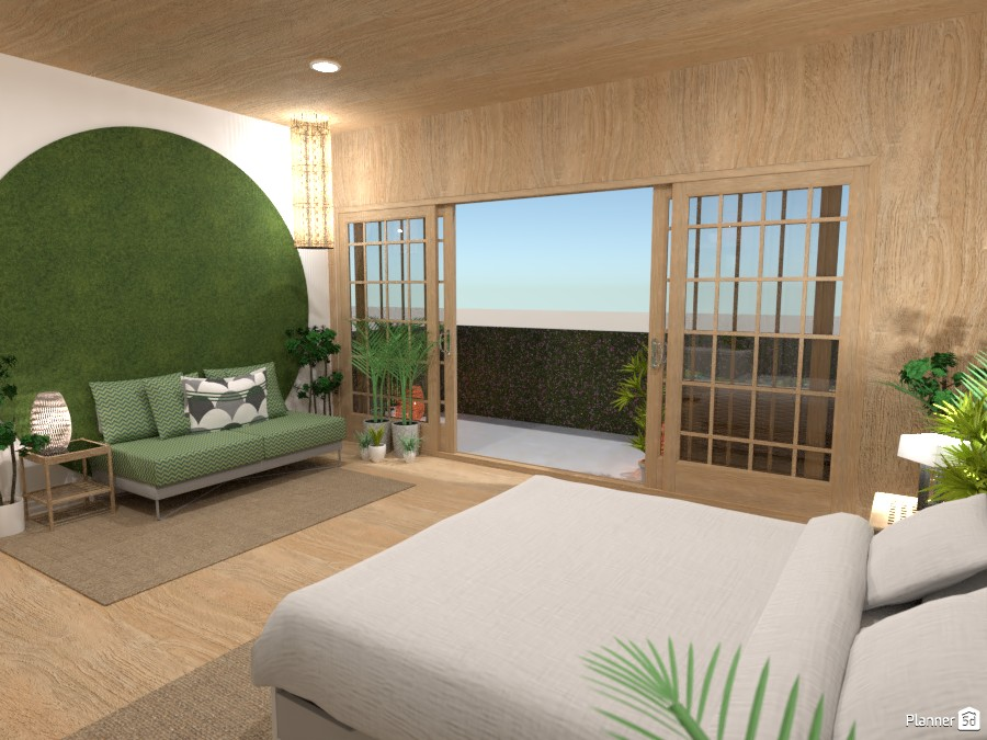 Tropical bedroom with a balcony 3780017 by Ana G image