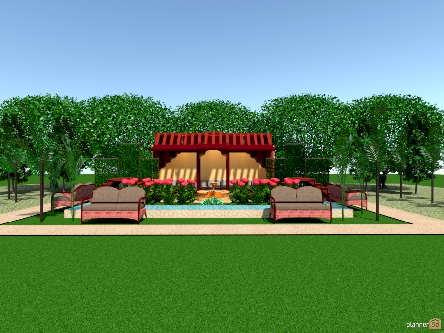 Arabic garden - Terrace ideas - Planner 5D