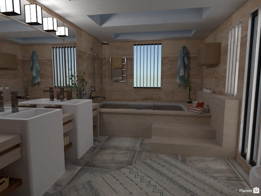 Three Modern Levels: Bath #1 3248048 by Micaela Maccaferri image
