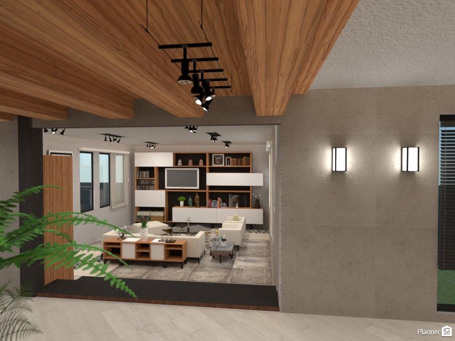 Three Modern Levels - Living View 3246378 by Micaela Maccaferri image