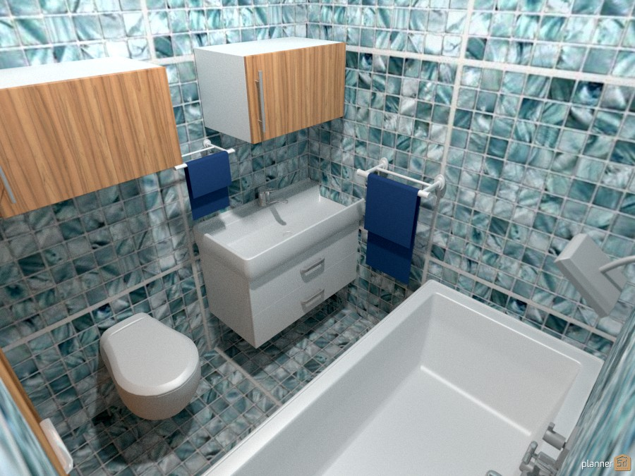 300 sq ft tiny cabin bath 990612 by Joy Suiter image