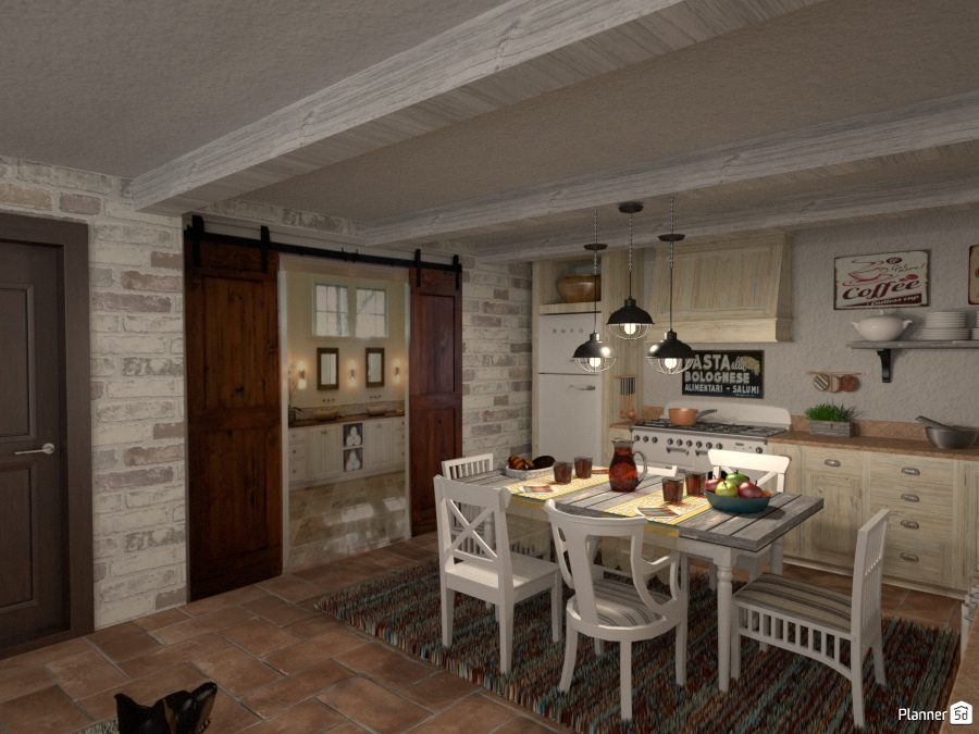 Cucina rurale vista bagno kitchen ideas planner 5d for Planner bagno 3d