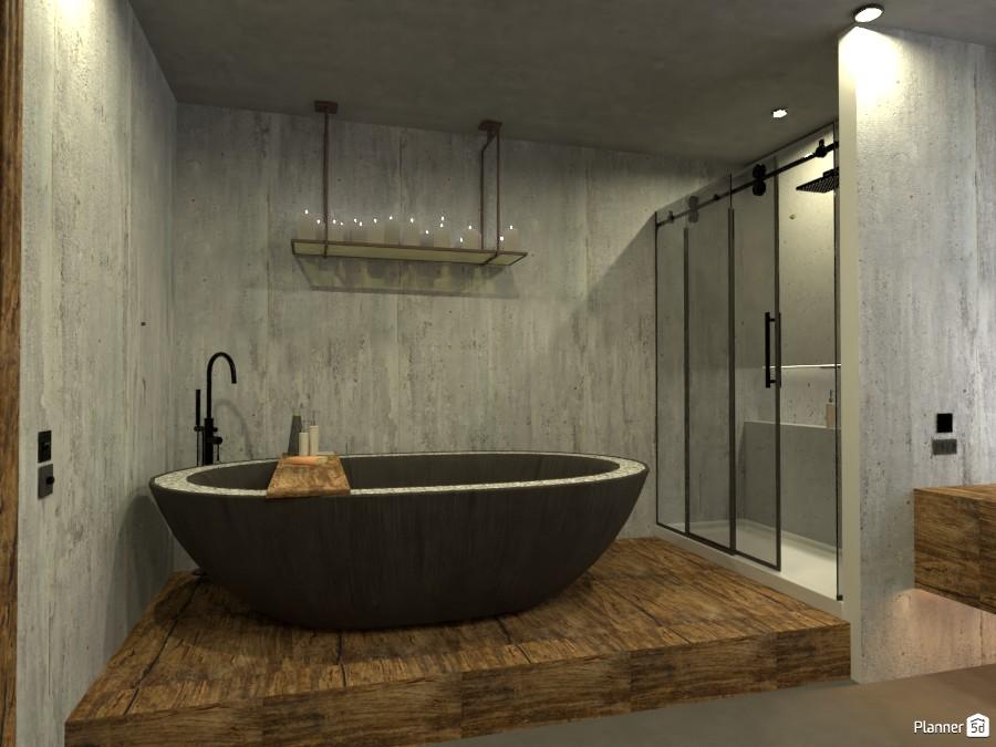 concrete bathroom 4078858 by Michel image