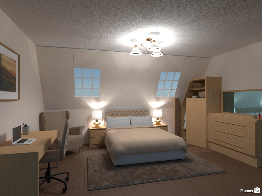 bedroom in the loft 3540632 by Chani image