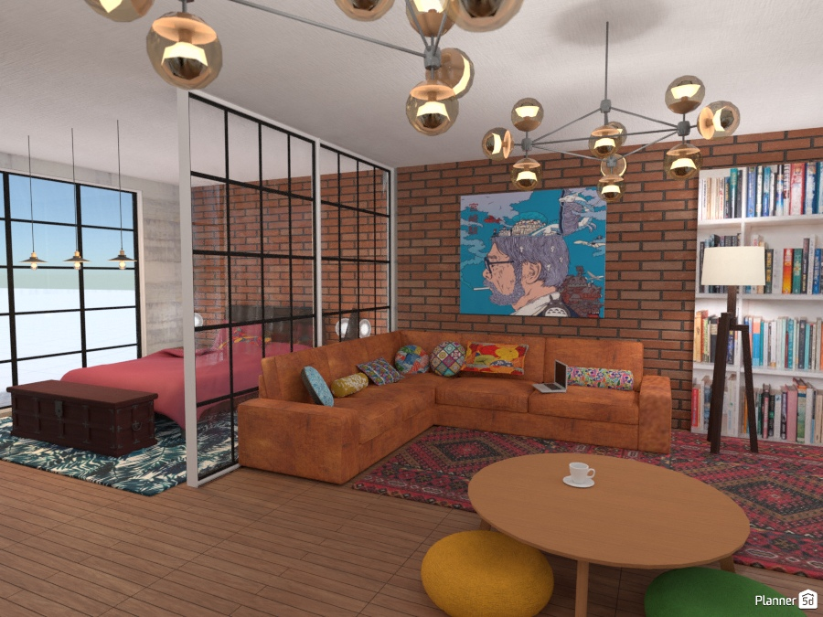 cool living room + bedroom 2378475 by ענבר רביץ image