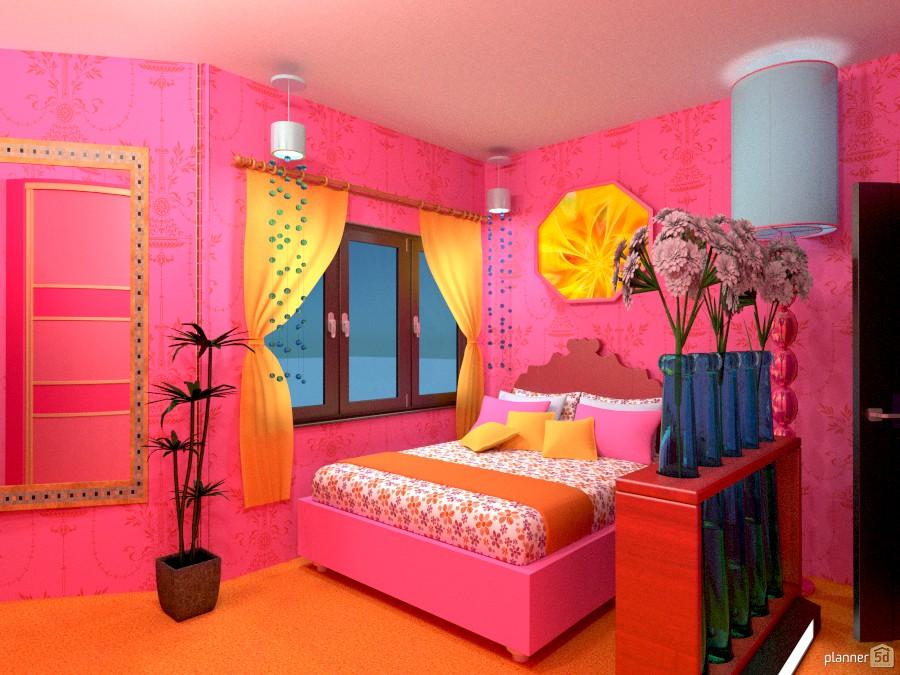 Pink Teenage Room 978395 by Versailles Tee image