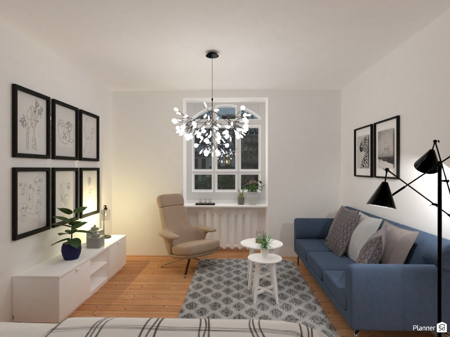 Small and clean city apartment / Living room + bedroom 3414897 by Lucija Marko image