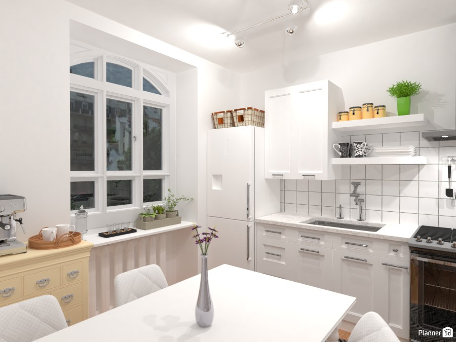 Small and clean city apartment / Kitchen 3414900 by Lucija Marko image