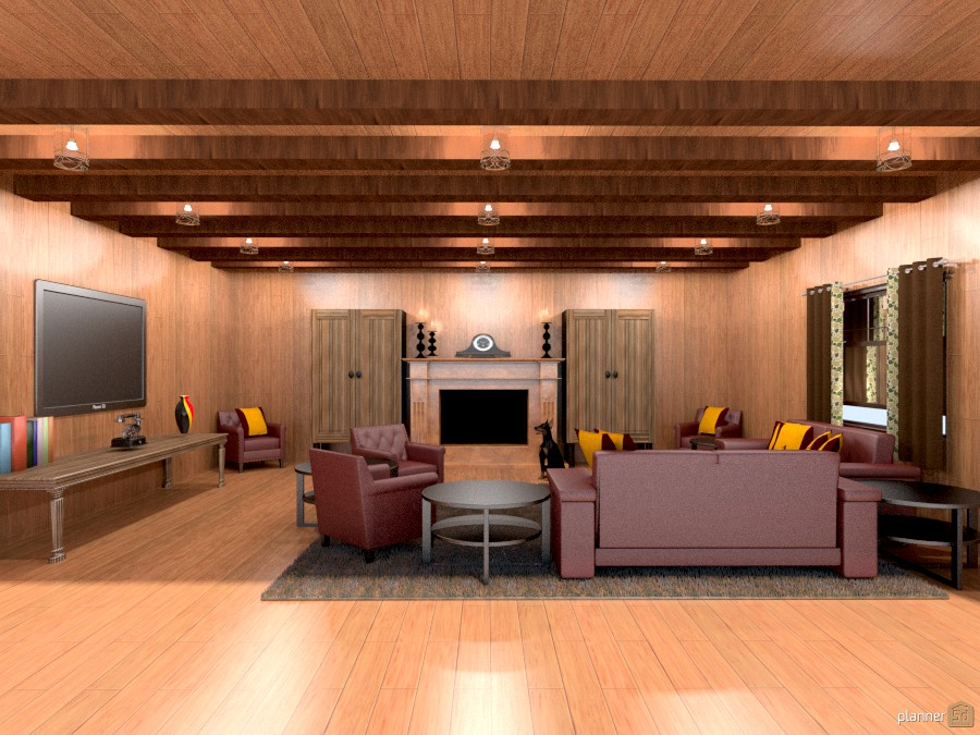cozy cabin living room with ceiling beams 771549 by Joy Suiter image