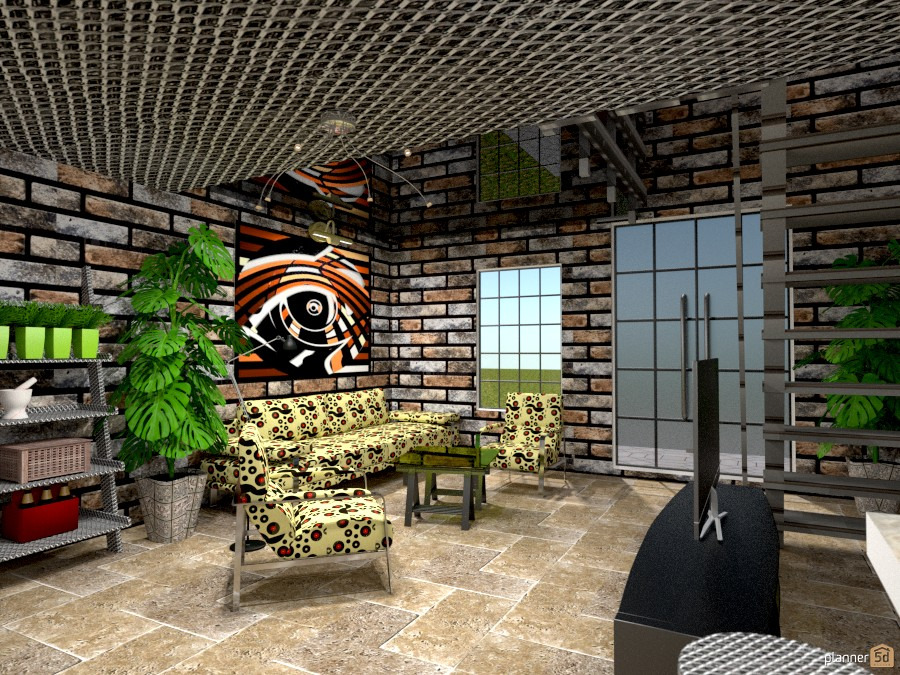 Brick Home: Living 1031585 by Micaela Maccaferri image