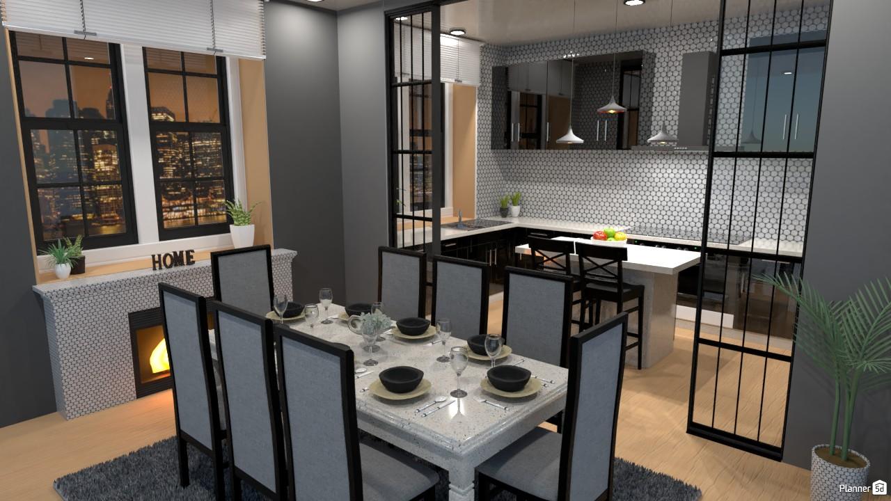 Cocina con barra y comedor (n) 4296133 by Hall Pat image