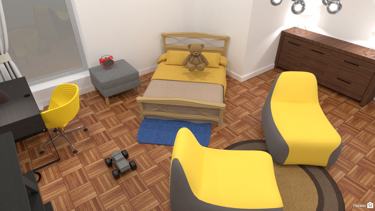 My yellow and grey bedroom 3870561 by Mark image