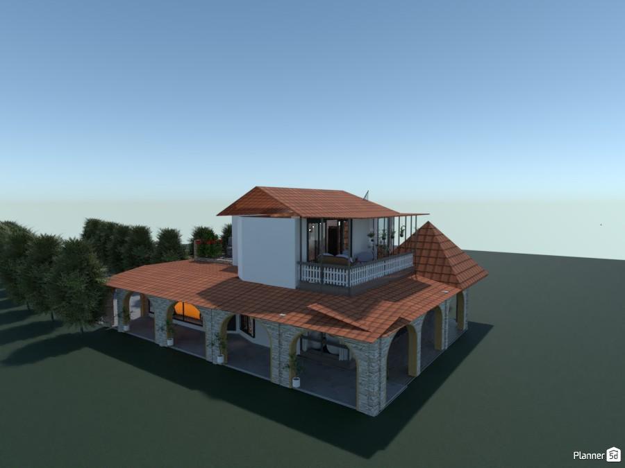 Hiša v kateri je soba z jedilnico in dnevnim prostorom 3769929 by Tatjana image