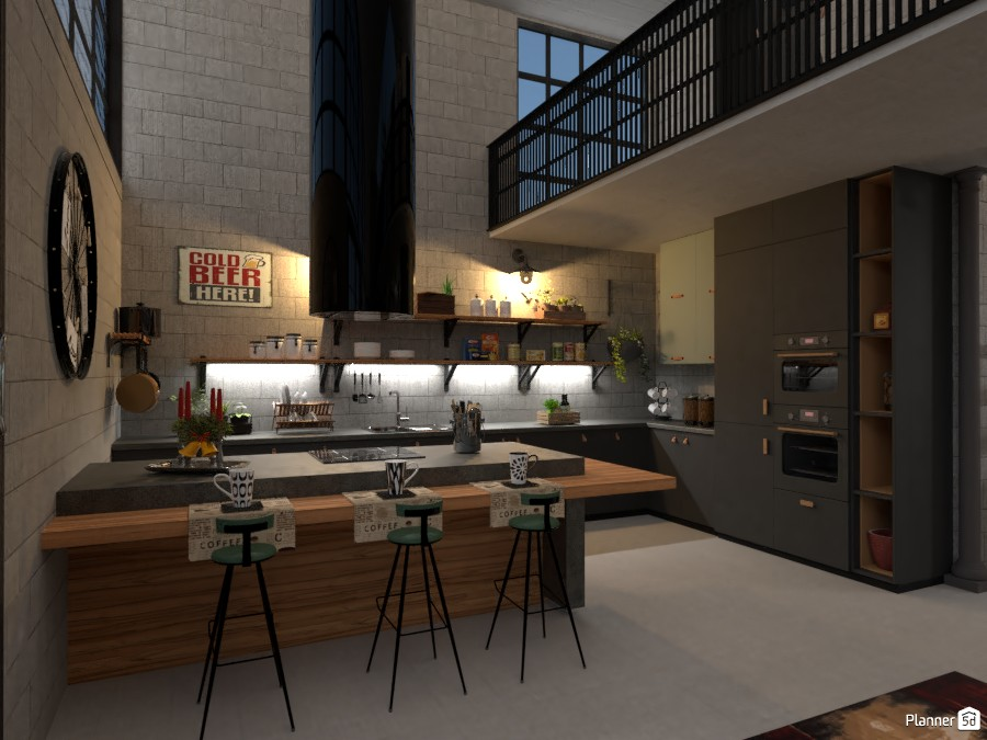 Industrial Concept: Kitchen 3795435 by Micaela Maccaferri image