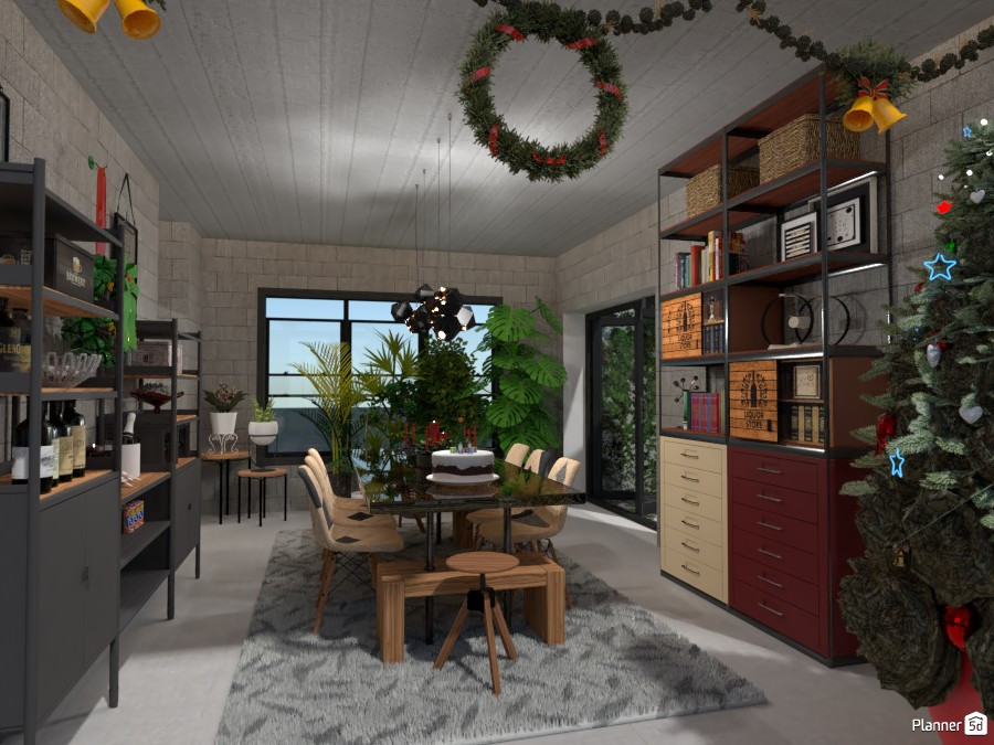 Industrial Concept: Dining at Christmas 3799227 by Micaela Maccaferri image