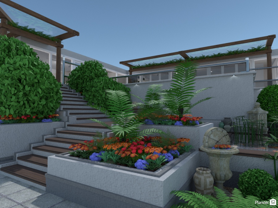 Lower Garden Area. 1963539 by Mikes image
