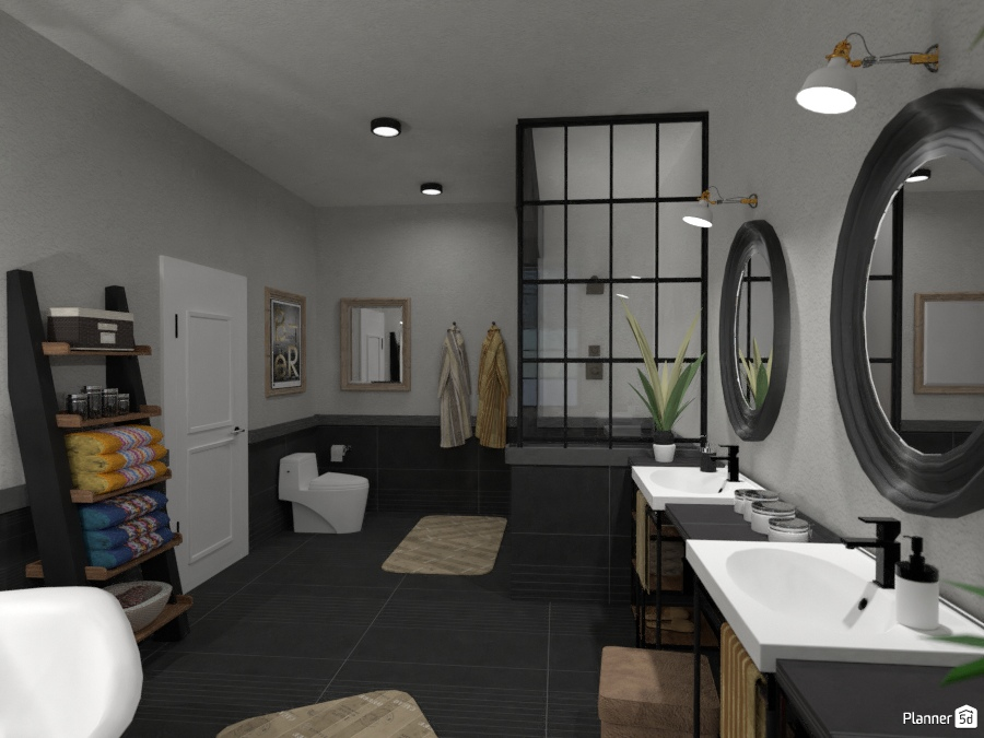 Industrial point bath idee per appartamenti planner d