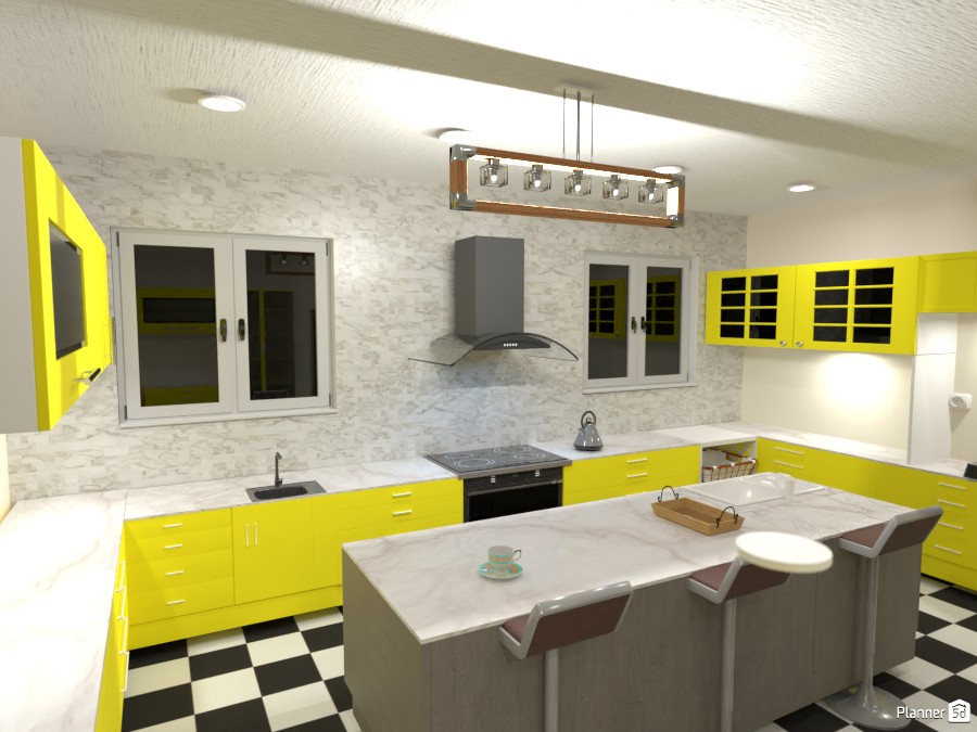 Checkered tiled kitchen 3676606 by Born to be Wild image